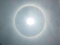 Halo (o antelia) alrededor del Sol (José Miguel S) Tags: light sun color luz sol clouds halo nubes anillo anthelia cloudyday solarhalo halosolar fotometeoro opticalphenomena cristalesdehielo cloudsonthesky antelia arcoirisredondo