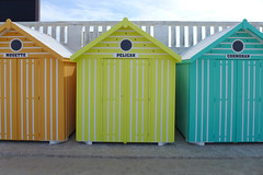 Beach huts (denismartin) Tags: france colour beach colors beachhut seashore nord merlimont colorandcolors pasdecalais cotedopale colorsoftheworld stellaplage denismartin hautdefrance