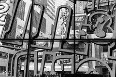 Times Square (Caterix) Tags: blackandwhite usa newyork graphic shapes hersheys timessquare northamerica eastcoast mmworld crossroadsoftheworld