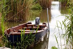 little blue boat (S_end) Tags: lake water springtime ioannina pamvotis tamron70300vc