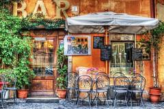 (Philippe Vieux-Jeanton) Tags: italy rome roma bar restaurant italia terrasse hdr italie