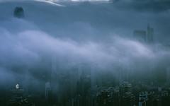 Cloud City-Hongkong (L-E-N-G) Tags: china city sky sun color art architecture hongkong haze asia scene impressed gettyimages humanities huangpujiang