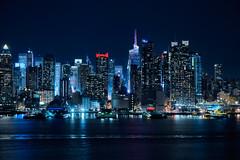 Skyline of New York City (roken-roliko) Tags: city nyc newyorkcity nightphotography travel sky panorama water lines architecture night america river lights cityscape towers panoramic northamerica cityatnight nycskyline nightcity traveldestinations architectureexterior cityandarchitecture rolandshainidze