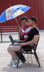 Under my umbrella - part 1 (Marija Vujosevic) Tags: park parque people bench faces gente cuba banco kuba