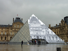 Similar but different - Louvre pyramid (Monceau) Tags: different pyramid louvre workinprogress jr surprise disappearing