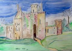 Caerlaverock Castle (Smabs Sputzer) Tags: castle art paper acrylic caerlaverock