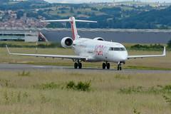 Hop CRj 700 at EBU (Fabrice Durand) Tags: france saint plane airport euro air hop 700 etienne spotting crj ebu 2016 fgrzl