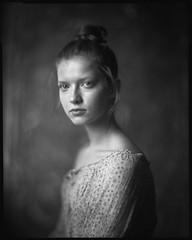 * (derlevi) Tags: portrait woman 4x5 adox chs100ii