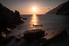 "Sunset ""on the rocks"" (marke59) Tags: travel italien sunset sea italy rocks meer long exposure mare time reise 2016 5terre langezeitbelichtung marke59"