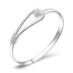 925 Silver Rose Bracelet (SilverMoonBay) Tags: rose silver shine sale sparkle trendy bracelet bangle 925 shimmer opensky trendyjewelry discountjewelry affordablejewelry jewelrysales jewelryforless jewelrydeals