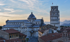 Pisa Sunset 16 (chriswalts) Tags: travel sunset italy streets tower night pisa leaning