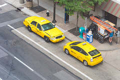 Taxi! (jphenney) Tags: movie downtown cleveland filmproduction sportscars movieprops fastfurious fastandfurious8