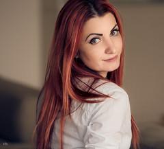 Window light (kfbfotografie.de) Tags: red portrait smile hair redhair