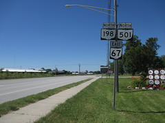 OH-198 (paulthemapguy) Tags: shield sign ohio state route 67 501 198