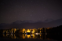 Night Sky at Alta Lake (craigmdennis) Tags: sky lake mountains night stars whistler aurora rainbowpark altalake