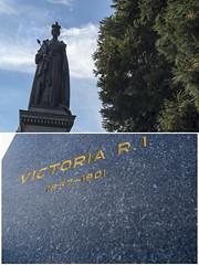 Queen Victoria R.I. (Iv**) Tags: travel canada heritage history statue stone 50mm nikon bc britishcolumbia victoria queen british capitalcity