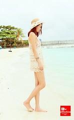 LD-0001 – ชุดเดรสลูกไม้ลายน่ารักใส่คลุมชุดว่ายน้ำเดินเล่นชายหาดสุดเก๋