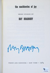 """Title Page Signed by Ray Bradbury in his book """"The Machineries of Joy"""" NY: Simon and Schuster, 1964. First edition (lhboudreau) Tags: sf fiction book signature books autograph sciencefiction bradbury 1964 signed autographed anthology hardcover raybradbury titlepage simonandschuster simonschuster inscribed firstedition hardcovers hardcoverbooks machineriesofjoy vintagesciencefiction hardcoverbook classicsciencefiction isadoreseltzer sciencefictionstories fictionstories themachineriesofjoy"""
