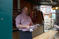 ** (dorothée_deppner) Tags: market sausage seller streetphotography strasenfotografie dortmund dorothée deppner