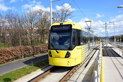 Hollyhedge Road Wythenshawe. Manchester Metrolink. (Fred Collins afloat and ashore) Tags: airport bombardier hollyhedge lightrail line lrv m5000 manchester martinscroft metrolink road tram tramcar tramway
