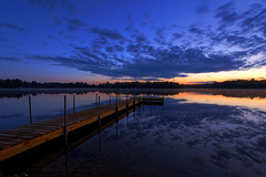The Lonely Cool at Dawn (s.w.Lepak) Tags: lake reflection wisconsin clouds dawn presunrise crookedlake ocontocounty