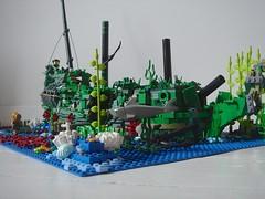 DSC05332 (sebeus) Tags: sea fish coral shark weed ship underwater lego wreck galleon