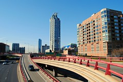 Kennedy Expressway from Lake Street. (Cragin Spring) Tags: city urban usa chicago buildings illinois midwest downtown unitedstates unitedstatesofamerica chitown ramps il expressway kennedy westloop chicagoillinois chicagoil windycity kennedyexpressway
