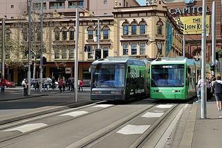 Sydney Light Rail - 2102 & 2107 Variotrams