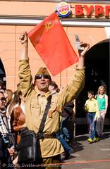 Victory Day in Saint Petersburg, Russia (Svetlana Serdiukova) Tags: red holiday march nikon uniform russia flag victory celebration national soviet nikkor greeting cheering victoryday d300 may9 9 nevskyprospect    svetlanaserdiukova