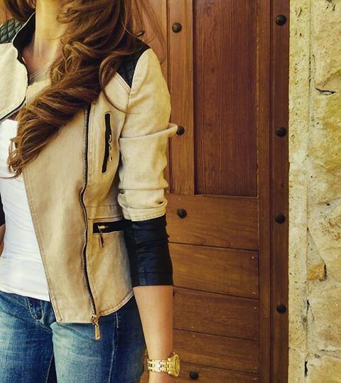 c85a7de33e795 Kurtka #damska skóra+jeans wiosna 2016 model... (Kurtki.Damskie
