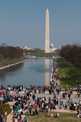 Vue du Lincoln Memorial (Seb & Jen) Tags: usa washington districtofcolumbia memorial unitedstates capitol obelisk lincoln capitole obelisque tatsunis