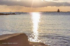Sandy Point Lighthouse 1 (strjustin) Tags: lighthouse beach beautiful clouds sunrise canon landscape maryland pasadena sandypoint 60d canon60d