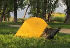 Camping in Roundup,Montana (montanatom1950) Tags: camping tents montana suzuki roundup dl650 vstrom motorcycletouring roundupmontana