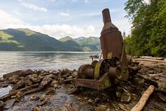 Steam Donkey (Jason Pineau) Tags: old lake canada river rust bc forestry britishcolumbia logging donkey historic steam pitt