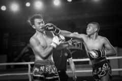 KBX Professional (BP Chua) Tags: people blackandwhite monochrome sport canon fight action professional thai match boxing fighting muaythai 1dx kbx