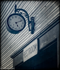 Time for a Break (KRHphotos) Tags: stilllife clock sign architecture us unitedstates streetphotography westvirginia cass cassscenicrailroad