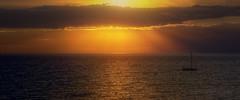 ~aglow~ (limebluphotography) Tags: ocean travel light sunset sea summer mist lake love beach beauty landscape golden boat air romance sail officialblu