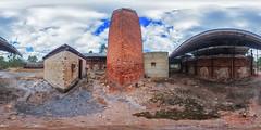Clackline Chimney (Astronomy*Domine) Tags: clackline refactory perth westernaustralia abandoned chimney canon 6d samyang 14mm 360 vr equirectangular color efex nik
