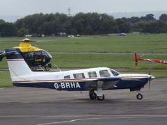 G-BRHA Piper Cherokee Lance (Aircaft @ Gloucestershire Airport By James) Tags: james airport gloucestershire lance cherokee piper 32 lloyds egbj gbrha
