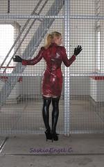 dress rehearsal for Tortureship Pic 3 (SaskiaEngel) Tags: highheels tgirl transgender tranny transvestite heels halsband holdup transe wetlook korsett transvestit tgirls holdupstockings