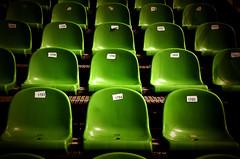 "Green rows ! (CJS*64 ""Man with a camera"") Tags: vacation holiday abstract colour green nikon rows seats nikkor dslr madeira funchal nikkorlens d7000 nikond7000"
