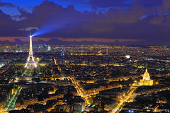 Paris at Night from Montparnasse Tower (tomosang R32m) Tags: panorama paris france tower night observation view eiffel deck toureiffel nightview montparnasse   terrase yakei