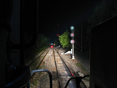 Durand Search Lights (GLC 392) Tags: gtw grand trunk western railroad railway rail road way train durand mi michigan search light signal gmtx 2675 emd gp382 great lakes central glc night time osmer turn