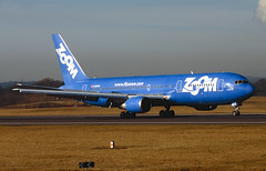 ZOOM B767 (Martyn Cartledge / www.aspphotography.net) Tags: 767 90s aerodrome aeroplane air aircraft airline airliner airplane airport aspphotography aviation b767 boeing cgzum cartledge cityofottowa civilairline civilairliner flight fly flying jet martyn plane runway scan transport zoom uk wwwaspphotographynet asp photography flywinglets