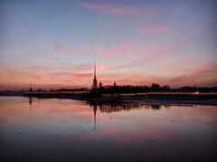 Sunset on Neva (Manichaean1234) Tags: sunset stpetersburg olympus saintpetersburg neva peterpaul em5