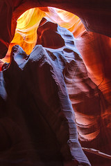 Upper Antelope_0053_WEB.jpg (Jeff Woodard Photography) Tags: arizona antelopecanyon slotcanyon colors northernarizona page pageaz pagearizona shadows golds yellow reds purples hibernation bear upperantelopecanyon