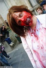 ZomBifff Day (Red Cathedral is alive) Tags: brussels girl dead blood cosplay zombie bruxelles eerie gore horror undead brussel larp redcathedral deadgirl walkingdead zombiewalk zombieparade eventcoverage aztektv zombifff