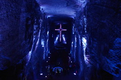 Salt Cathedral of Zipaquir, Colombia (ARNAUD_Z_VOYAGE) Tags: parque cloud color colour church colors beautiful rock architecture modern clouds america de landscape temple la carved site amazing colombia bogota icons mine catholic colours hand view cross cathedral natural colombian roman bogot south details centro central salt architectural mining ornaments american huge geology catholicism region department sculptures sal jewel active resources centrale achievements mineralogy halite zipaquir parkmuseum