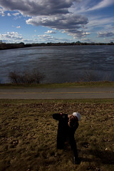 Who is shooting whom? (Sally Dowe) Tags: river ottawa parkway elements
