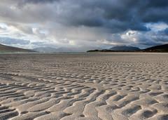 Ripples in the sand (Grim Weaver) Tags: seascape mountains colour clouds canon scotland scenery shorelines seascapes canoneos canonrebelti outerhebrides canon500d isleofharris